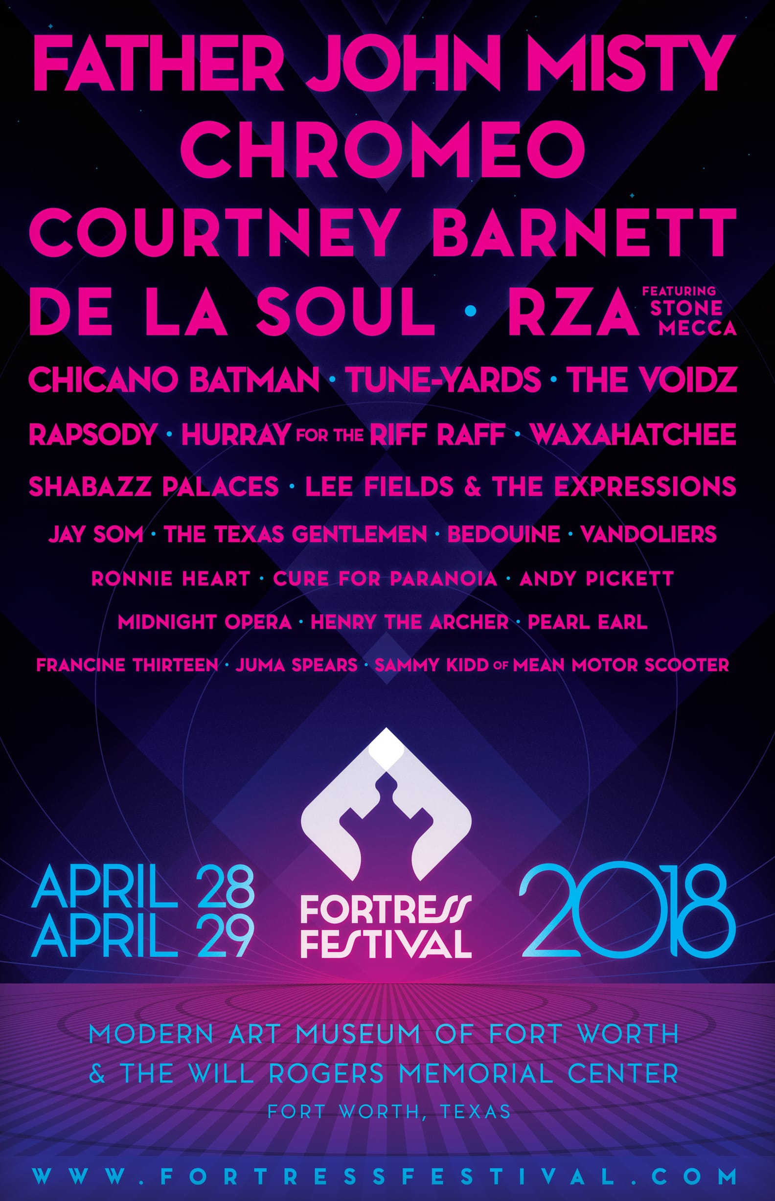 Lineup Poster for Fortress Festival 2018